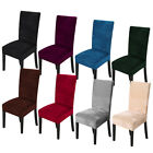 1 4 6 8Pc Spandex Stretch Velvet Dining Chair Covers Seat Protector Slipcovers