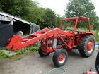 Massey fergusson 165  MF 165 with Flemming Topper and Loader