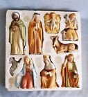 Vintage HOMCO HOME INTERIORS NATIVITY COMPLETE 9 PIECE SET 5599