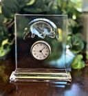 Lalique Curious Cat Clock Rare Signed Guaranteed Authenti  Mint Condition