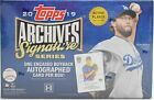 2019 TOPPS ARCHIVES SIGNATURES SERIES ACTIVE PLAYER ED BASEBALL HOBBY BOX NEW
