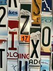 Raised License Plate Letters and Numbers for Signs and Arts and Crafts