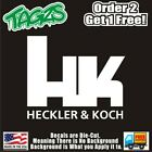 Heckler Koch Gun Rifle 2a Nra Diecut Vinyl Window Decal Sticker Car Truck Suv