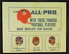 1966 AMOCO American Oil All Pro Stamps Gale Sayers ROOKIE Bears Huff Redskins***