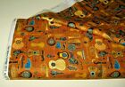 Quilting Treasures quilt fabric Fine Tuning GUITARS rust 2 yds 26847GreatStyle