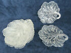 Indiana Pebble Leaf Style Clear Glass Set of 8 Nappy Candy Dishes 1639B
