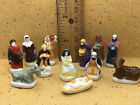 Bright NATIVITY SET 12 pcs Santons French Feves Porcelain Miniatures Dollhouse