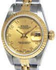 Rolex Datejust 18k Yellow Gold & Steel Champagne Dial Ladies 26mm Watch 69173