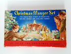 VINTAGE CHRISTMAS MANGER NATIVITY SET CARDBOARD STAND UP CUT OUTS USA  743