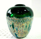 Gorgeous Blown Glass Small Vessel with Iridescant Frit