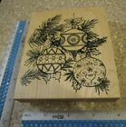 LARGE ORNAMENTS ON A CHRISTMAS TREE MW RUBBER STAMP NORTHWOODS RUBBER STAMPS