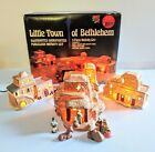 VTG Lighted 9 pc Woolworth Little Town Bethlehem Nativity set Christmas Village