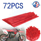 72X Motorcycle Spoke Wraps Covers Wheel Guard Protector For Dirt Bike Dual Sport