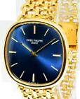 Patek Philippe Mens Vintage Ellipse 18k Yellow Gold Watch & Pouch 3644/2