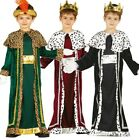 Boys Traditional King Wise Man Christmas Nativity Fancy Dress Costume Outfit