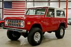 1971 Ford Bronco Sport 1971 Ford Bronco Sport 63553 Miles Cardinal Red SUV V8 3 Speed Manual