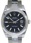Rolex Datejust 41 Steel Black Dial Oyster Bracelet Mens Watch Box/Papers 126300