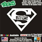 Superman Super Bih Funny Diecut Vinyl Window Decal Sticker Car Truck Suv Jdm