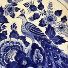 Hand Painted Holland Dutch Delft Pottery Blue Peacock Plate Hanging Plate 115