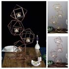 255 Inch tall Jointed Geometric Stand with Tealight Votive Glass Candle Holders