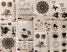 NEW Retired Stampin Up Wood Base Rubber Stamps Many Patterns to Choose