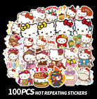 100pcs Cute Hello Kitty Stickers For Laptop Guitar Luggage Skateboard Car Decal