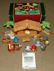 Fisher Price Little People Musical Christmas Story Nativity Scene Manger Stable