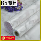 White Marble Contact Paper Granite Wallpaper Self Adhesive Vinyl Roll Kitchen