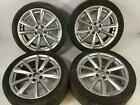 18 INCH 10 SPOKE WHEEL SET OF FOUR WITH TIRES 4F0601025CP AUDI A6 07 11 5X112