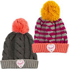 Animal Girls Gretel Knitted Warm Winter Cable Knit Roll Up Bobble Beanie - OS
