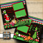 THE GRINCH 2 premade scrapbook pages paper printed layout Digiscrap A0276