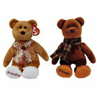 TY Beanie Babies - SET OF 2 GRANDPARENT BEARS (Grams & Gramps)(9 inch) - MWMTs