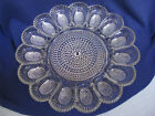 Indiana Glass Clear Hobnail 1000 Eye Deviled Egg Plate Oyster Dish Xmas Holiday