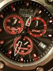 Invicta Reserve Subaqua Specialty Watch Swiss Chronograph Black Dial Red Accents