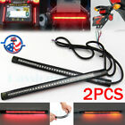 2x Motorcycle 48 LED Flexible Strip Light Integrated Tail Brake Stop Turn Signal
