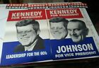 Two Original Campaign Posters Kennedy And Kennedy And Johnson Pristine Condition