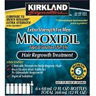 Kirkland Minoxidil 5% Extra Strength Men Hair Regrowth Solution -fast free 2 day