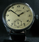JUNGHANS Vintage WWII Era Men's Large Stainless Steel Wristwatch
