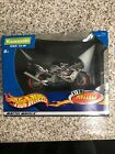Hot Wheels Kawasaki ZX-9R Black Flame Graphics 1:18 Scale Motorcycle Model NOS