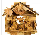 Kurt Adler 8 Olive Wood Nativity Music Box Silent Night New LOC0007
