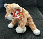 1999 Ty Beanie Baby Amber Tabby Striped Cat Original Collectible