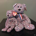 Ty USA Beanie Baby & Beanie Buddy Some Tag Wear Red White & Blue Speckles