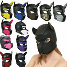 Soft Padded Rubber Neoprene Puppy Cosplay Role Play Dog Mask Full Head+Necklace