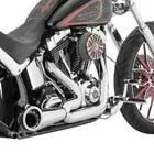 Freedom Performance Chrome Turnout 2 Into 1 Pipes Exhaust System Harley 04+ XL