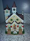 Christmas Village Lemax Coventry Cove Chapel lighted
