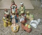 CHRISTMAS NATIVITY SET 11 PIECES PORCELIN NEW IN BOX 1993