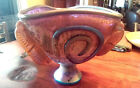 PHILABAUM SIGNED LARGE ART GLASS SCULPTURE / BOWL DATED 2006