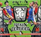 2017-18 PANINI TOTALLY CERTIFIED BASKETBALL HOBBY BOX FACTORY SEALED NEW