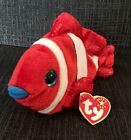2000 Ty Beanie Baby Jester the Clown Fish Original Collectible