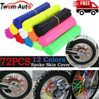72pcs Spoke Skins Covers Wheel Rim Protector Wraps For Motocross Dirt Bike ATV